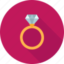 anniversary, diamond, engagement, gold, jewelry, ring, wedding icon