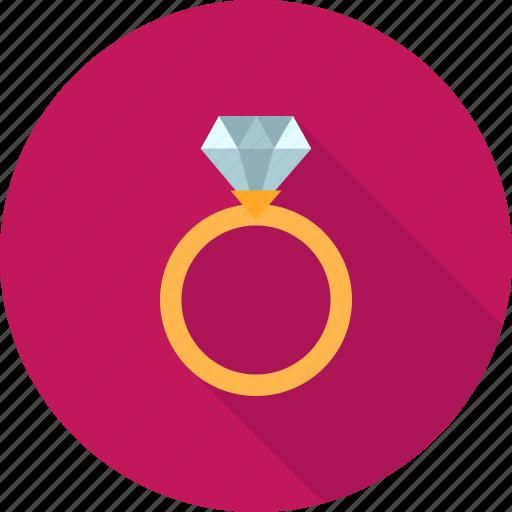 anniversary, diamond, engagement, gold, jewelry, ring, wedding icon