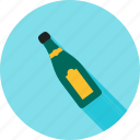 alcohol, bottle, champagne, champaign, green, splashing, wine icon