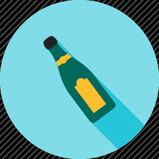 alcohol, bottle, champagne, champaign, green, splashing, wine icon