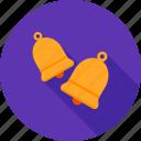 bell, bells, christmas, decor, decoration, ribbon, wedding icon