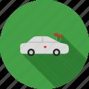 beautiful, car, celebration, decorated, decoration, flowers, wedding icon