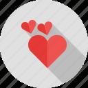 card, happy, hearts, love, shape, two, valentine icon