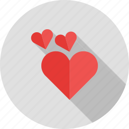 card, happy, hearts, love, shape, two, valentine icon