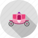 carriage, dress, fairytale, horse, party, princess icon