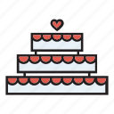 cake, confectionery, dessert, engagement, wedding icon