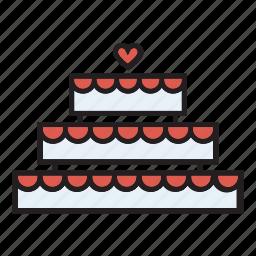 cake, confectionery, dessert, engagement, wedding icon