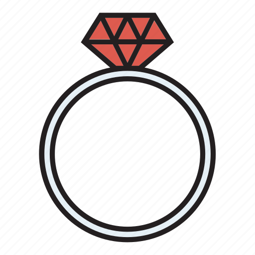 engagement, jewel, jewellery, ring, wedding icon