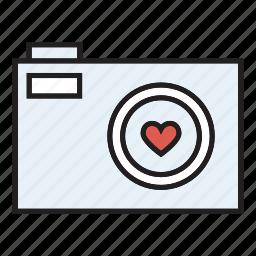 camera, engagement, photos, wedding icon