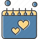calendar, schedule, timetable, wedding icon