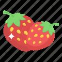 fresh strawberries, fruits, healthy diet, healthy food, strawberries icon
