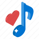 favorite music, favorite song, love music, love song, romantic music icon