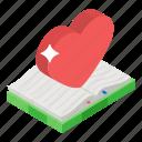 love book, love novel, romantic book, romantic novel, storybook icon