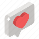 favorite chat, love chat, love communication, love message, love text icon