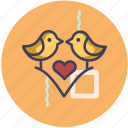 love, romance, valentine, wedding icon