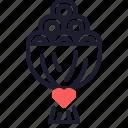engagement, flower, gift, love, marriage, valentine, wedding icon