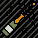 champagne, celebration, party, bottle, alcohol