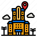 hotel, location, pin, maps, building