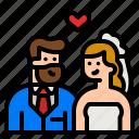 lover, couple, wedding, bride, groom
