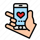 phone, love, call, dating, app