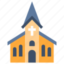 building, catholic, christian, church, cross, religion, wedding icon