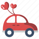 automobile, couple, happy, honeymoon, just married car, newlywed, wedding