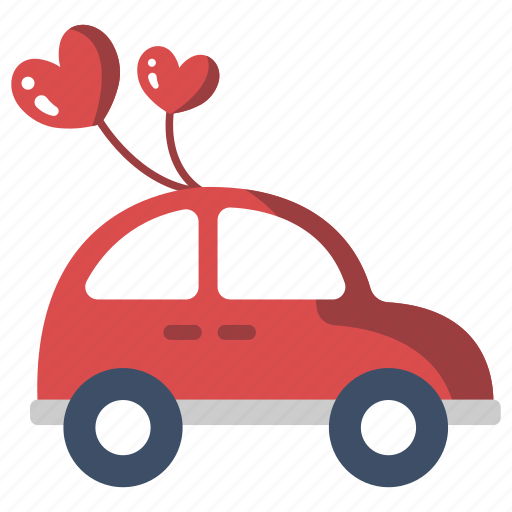 Automobile Couple Happy Honeymoon Just Married Car Newlywed Wedding Icon
