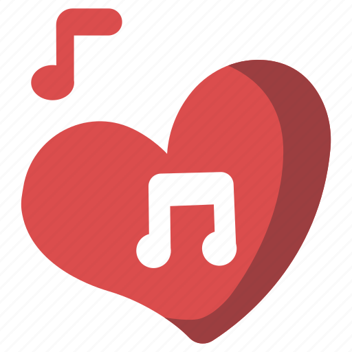 heart, love song, melody, music, musical, romantic, valentine icon