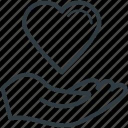 hand giving heart, hand holding, heart, heart care, love, love sign, te amo icon