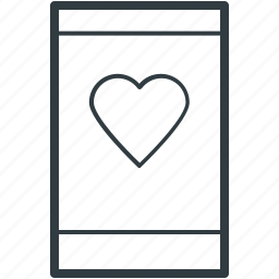 heart sign, love message, love sign, love symbol, mobile communication, mobile screen, mobility icon