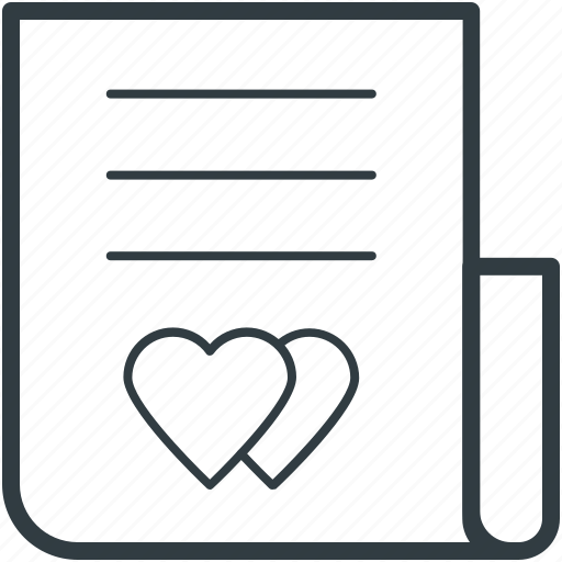 correspondence, heart sign, love inspiration, love letter, personal contact, romantic feelings, romantic letter icon
