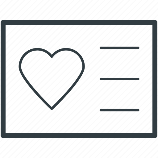 email, heart sign, love communication, love correspondence, love letter, mail, message, text sheet icon