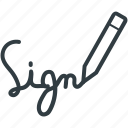 deal, handwriting, pen, sign, signature icon