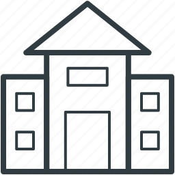 building, family house, home, house, hut, shack, villa icon