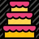 birthday, cake, cupcake, food, wedding icon