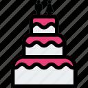 cake, wedding, wedding cake icon icon