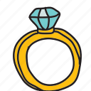 celebration, diamond, engagement, marriage, ring, wedding icon