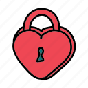celebration, heart, lock, love, wedding icon