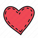 heart, love, stitched, wedding icon
