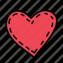 heart, love, stitched, wedding