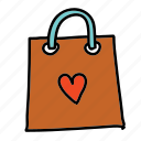 bag, celebration, heart, present, shopping, wedding icon