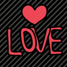 celebration, heart, love, text, wedding icon