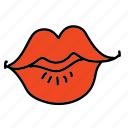 celebration, kiss, lips, love, wedding icon