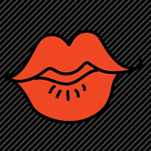 celebration, kiss, lips, love, wedding icon