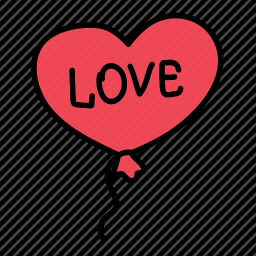 balloon, celebration, decoration, heart, love, wedding icon