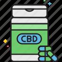 cannabinoid, cannabis, capsules, cbd, cbd capsules, cbd pills, drug icon