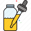 bottle, cbd oil, dropper, oil icon