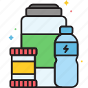 beverages, food, functional, functional food beverages icon