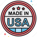 label, made in usa, sticker
