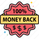money back, guarantee, money back guarantee, label